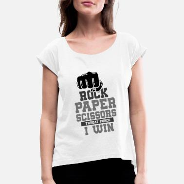 Rock Paper Scissors ROCK PAPER SCISSOR: Rock paper scissors - Women's Rolled Sleeve T-Shirt