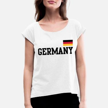 Germany Flag Germany flag - Germany Germany flag flag - Women's Rolled Sleeve T-Shirt