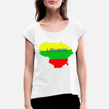 Lithuanian Lithuania - Women's T-Shirt with rolled up sleeves
