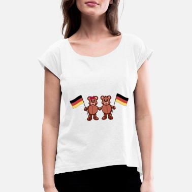 International Germany German Länder Germany Flag Teddy - Women's Rolled Sleeve T-Shirt