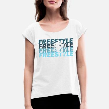 Freestyle Freestyle - T-shirt med rulleærmer dame