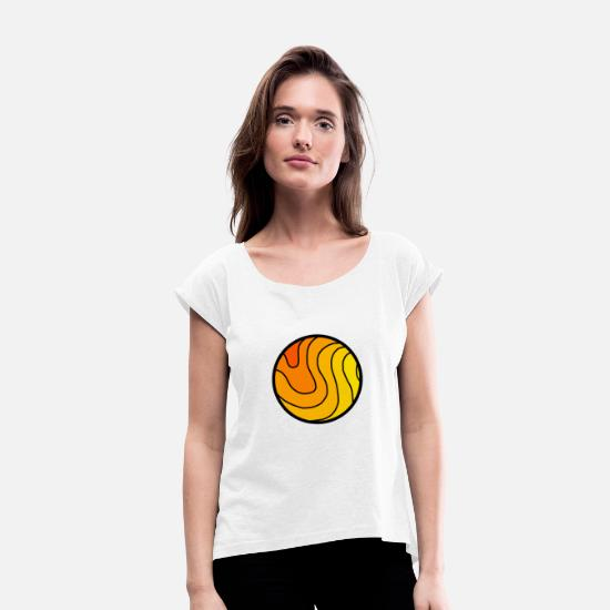 Planet T-Shirts - Planet - Women's Rolled Sleeve T-Shirt white