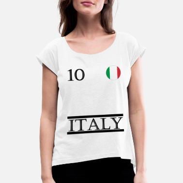 Sport Vêtements Sport Vêtements de sport en Italie - T-shirt à manches  retroussées Femme 53bcff7165d