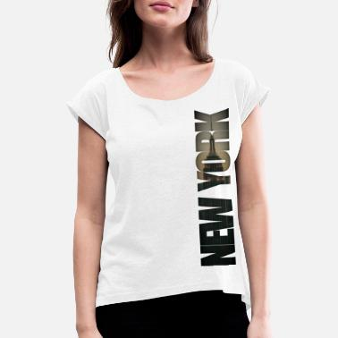 Burlesque New York City Burlesque - Women's Rolled Sleeve T-Shirt