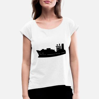 Freighter A freighter for the economy - Women's Rolled Sleeve T-Shirt