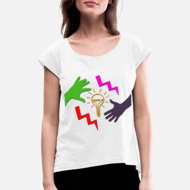 bc6180d241ce99 Selbst Erstellen Erstelle es - Frauen T-Shirt mit gerollten Ärmeln