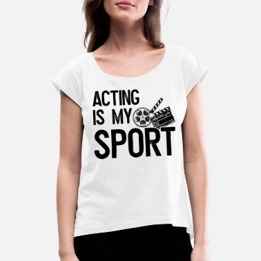 Clapper Bestirelse Acting actor clapper gave - T-shirt med rulleærmer dame