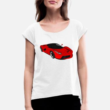 Sportscar Sports car sports car racing car convertible - Women's Rolled Sleeve T-Shirt