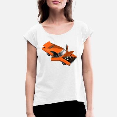 Muscle Unit Muscle Car - V8 US Muscle Classic Cars - Women's Rolled Sleeve T-Shirt