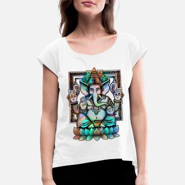 Mythical Collection Cosmic Ganesh - Maglietta con risvolti donna