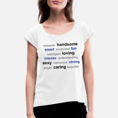 Word word cloud - Women's Rolled Sleeve T-Shirt