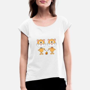 Mummy Hamster - campfire - love - animal - child - baby - Women's Rolled Sleeve T-Shirt