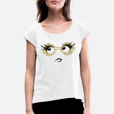 Glasses glasses eyes - Women's Rolled Sleeve T-Shirt