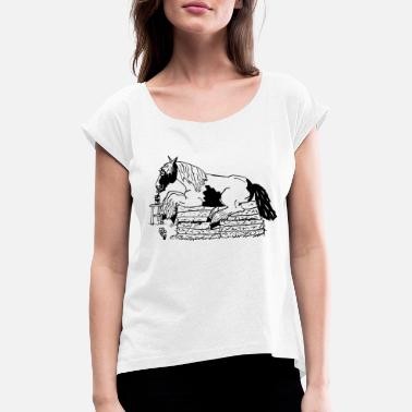 Tinker relaxes - Women's Rolled Sleeve T-Shirt