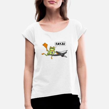 Amazing Amazing Frog Crossbow - Women's Rolled Sleeve T-Shirt