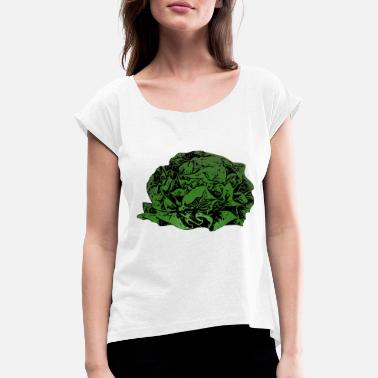 Lettuce head of lettuce - Women's T-Shirt with rolled up sleeves