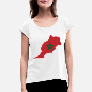 Bainderas Morocco - Women's T-Shirt with rolled up sleeves