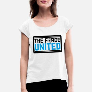 The Force The Force United - T-skjorte med rulleermer for kvinner