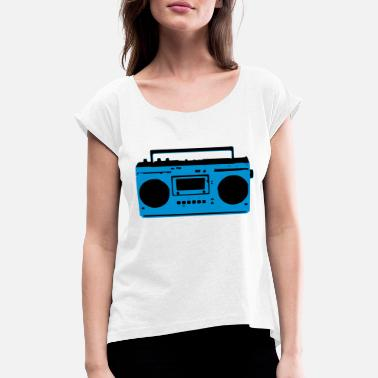 Recorder retro_recorder - Women's Rolled Sleeve T-Shirt