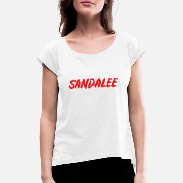 Sandal SANDALE RED - Women's Rolled Sleeve T-Shirt