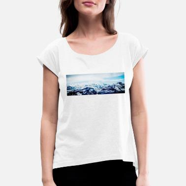 Mountaineering mountains - Women's Rolled Sleeve T-Shirt