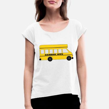 School Bus School bus - Women's T-Shirt with rolled up sleeves