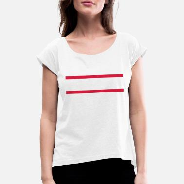 Vertical Line Straight lines - Women's Rolled Sleeve T-Shirt