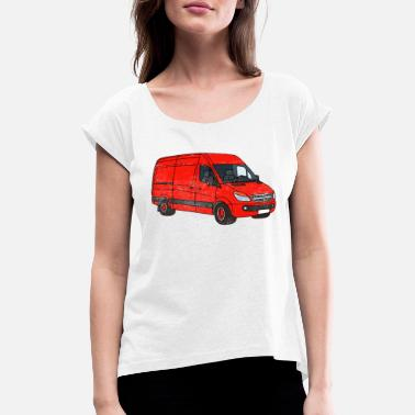 Vanoss Van Art Car Graphic - Women's Rolled Sleeve T-Shirt
