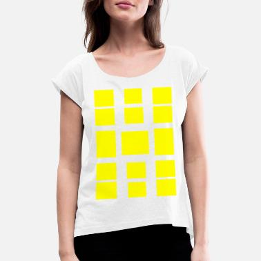 Quadrangles quadrangles - Women's Rolled Sleeve T-Shirt