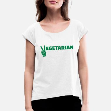 Vegetarian Vegetarian - Women's Rolled Sleeve T-Shirt
