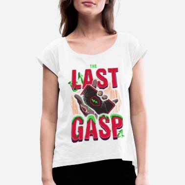 Official License World of Tanks Blitz - The Last Gasp - Vrouwen T-shirt met opgerolde mouwen