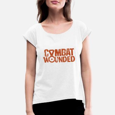 Combat Combat Wounded - Women's Rolled Sleeve T-Shirt