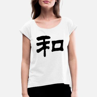 Mandapeno Chinese Peace 4 (NEU, 1c) - Women's Rolled Sleeve T-Shirt