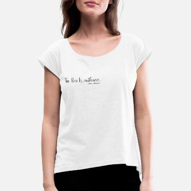 Silence The Rest Is Silence von Shakespeare - Frauen T-Shirt mit gerollten Ärmeln