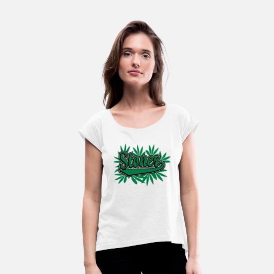 Bong T-Shirts - Stoner - Women's Rolled Sleeve T-Shirt white