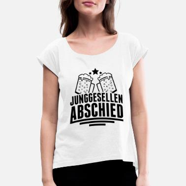Husband junggesellenabschied_pe1 - Women's Rolled Sleeve T-Shirt