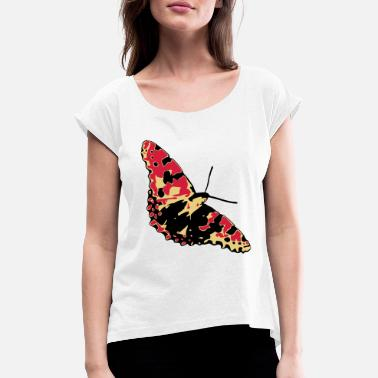Vector butterfly vector - Women's Rolled Sleeve T-Shirt