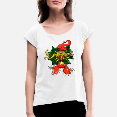 Gnome Ornament - Women's Rolled Sleeve T-Shirt