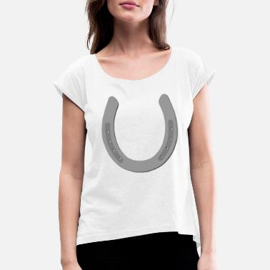 Horseshoe horseshoe - Women's Rolled Sleeve T-Shirt