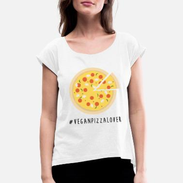 Vegan Pizza Lover - Women's Rolled Sleeve T-Shirt