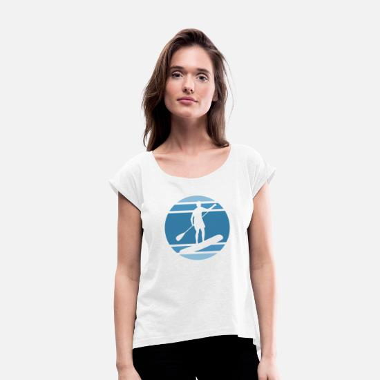 Stand Up T-Shirts - Paddle - Women's Rolled Sleeve T-Shirt white
