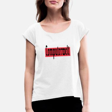 Kraftwerk computer world - Women's T-Shirt with rolled up sleeves