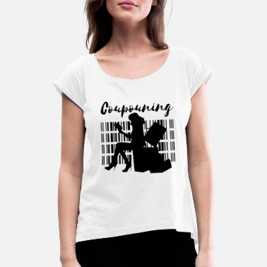 Lady Liberty lady couponing - Women's Rolled Sleeve T-Shirt