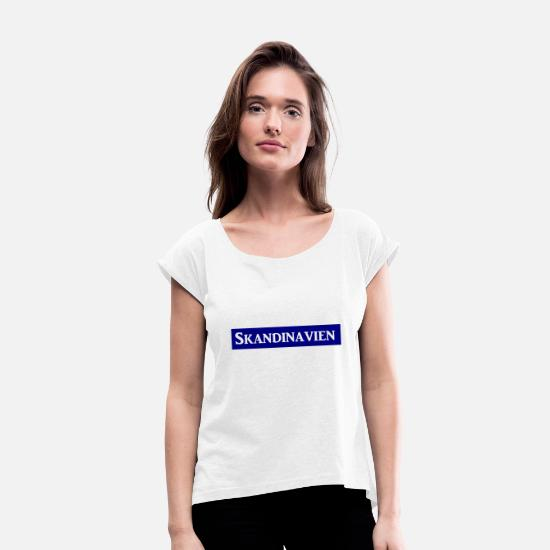 Stockholm T-Shirts - Scandinavia - Women's Rolled Sleeve T-Shirt white
