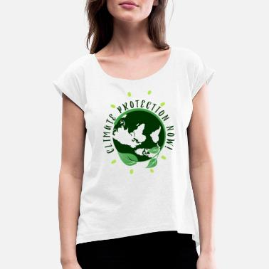 Environmental protection Nature conservation - Women's Rolled Sleeve T-Shirt
