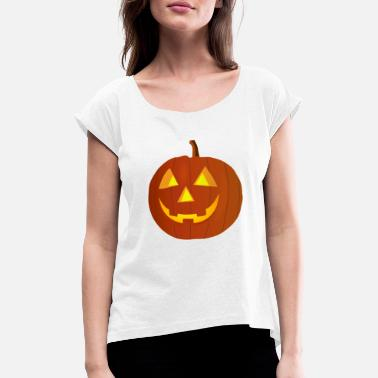 Kürbis Halloween Kürbis - Women's Rolled Sleeve T-Shirt