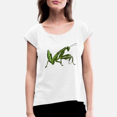 Insect Mantis religiosa - Love for insects - Women's Rolled Sleeve T-Shirt