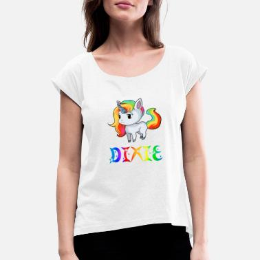 Dixie Unicorn Dixie - Women's Rolled Sleeve T-Shirt