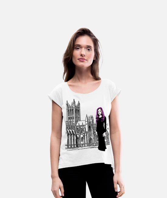 Ghastly T-Shirts - Gothic Edition design - Women's Rolled Sleeve T-Shirt white