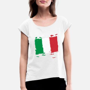 Bandiera Italia bandiera - Italy flag - Italy flag - Women's Rolled Sleeve T-Shirt